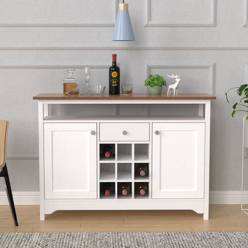 Buffet Server Sideboard Wine Cabinet Console Table Dining Room w/ Storage Home