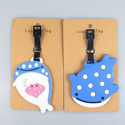 SAN-X Jinbesan Jinbei Whale Luggage Tag Japan Smile Dots 1pc Stingray