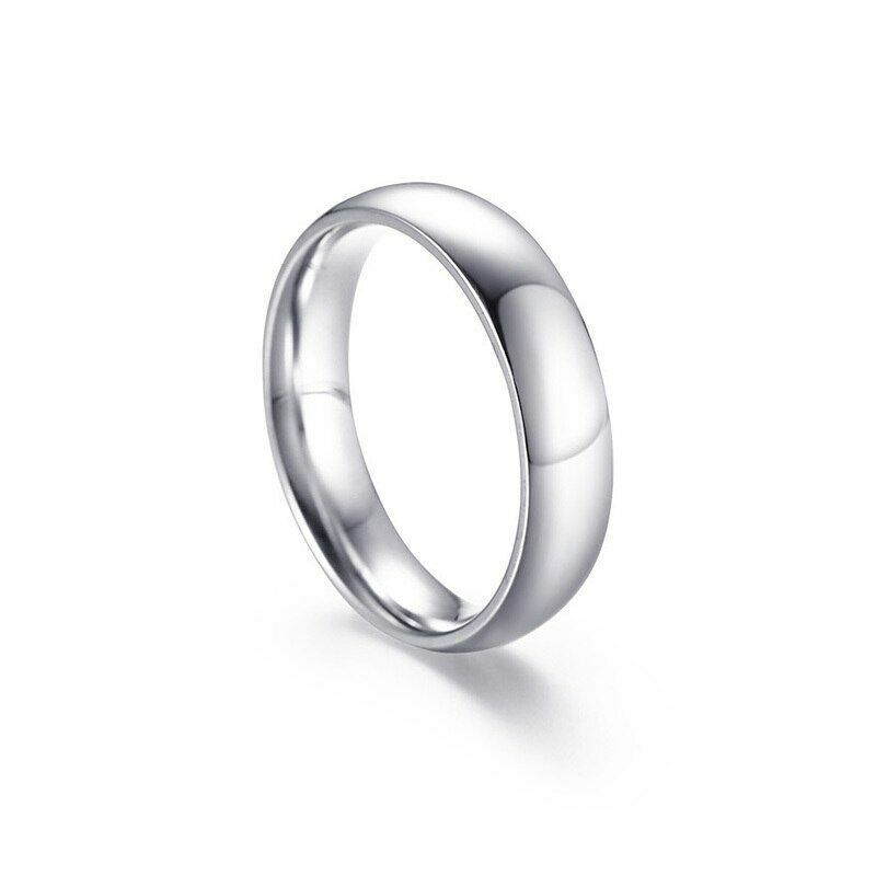 Stainless Steel Couples Rings Lovers Classic Wedding Band Ca