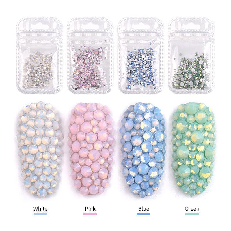 4 Bags Opal Rhinestones
