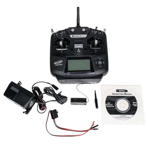 DSLRPros Futaba 8FG Black Edition - FREE 120v CHARGER, RECEIVER, & BATTERY