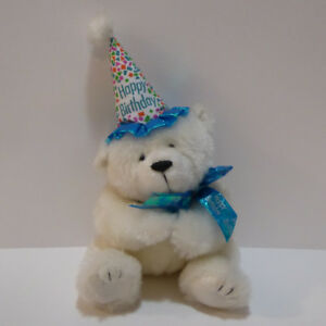 """BIRTHDAY BEAR"" STUFFED ANIMAL - NEVER USED/MINT"