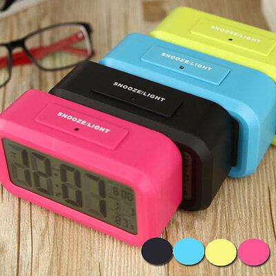 Snooze Digital Alarm Clock LED Backlight Time ...