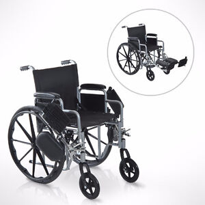 Folding Wheelchair Padded Arm w/ Elevating Largest Pads