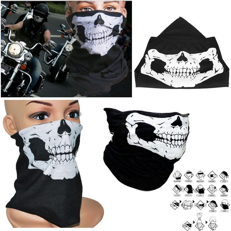 masque cagoule foulard tour de cou bandana t te de mort casque cyclisme moto ebay. Black Bedroom Furniture Sets. Home Design Ideas