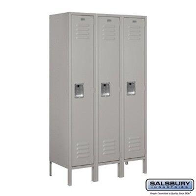 Salsbury Metal Locker Single Tier 3 Wide 5 High 15 Deep Gray 61355gy-u New