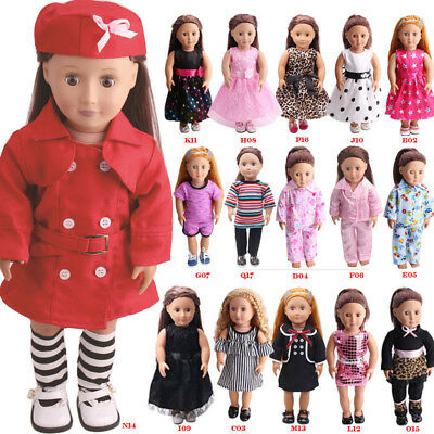US Doll Clothes Dress Outfits Pajames For 18 inch American Girl Our Generation