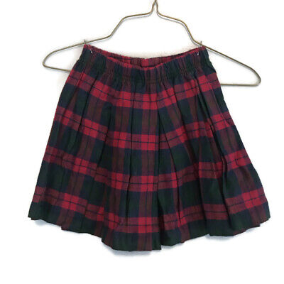 Hartstrings Girls Red Green Plaid Pleated A-Line Christmas Skirt Size 5 Hartstrings Girls Skirt