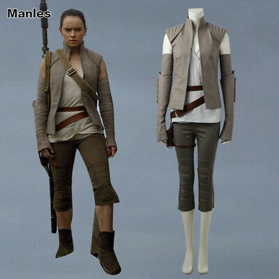 2017 Star Wars The Last Jedi Rey Cosplay Costume Christmas Fancy Dress Outfit  - Female Costumes 2017