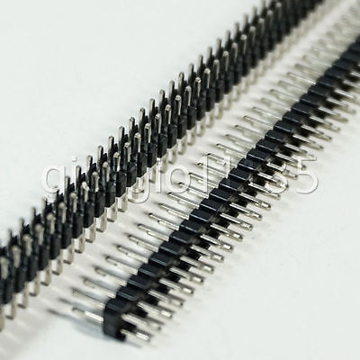 Us Stock 10pcs 40-pin 40p 2mm Male Double Row Pin Header Strip