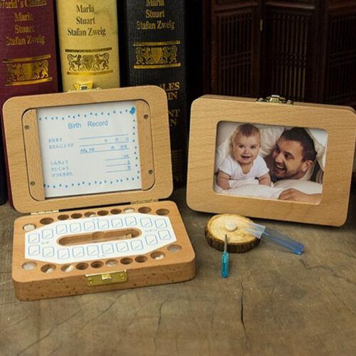 как выглядит Wood Baby Milk Tooth Box Kids Umbilical Lanugo Deciduous Keepsakes Storage Case фото