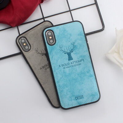 Deer Pattern - Deer Pattern Phone Case Cover Leather Texture For iPhone X 8 6s 7 Plus 6 XS Max
