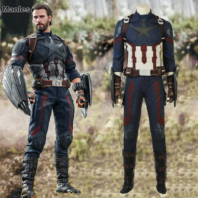 2018 Avengers Infinity War Costume Cosplay Captain America Steve Rogers Outfits