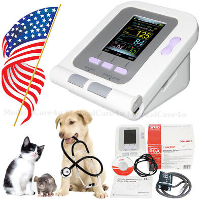 Fda Vet Veterinary Oled Digital Blood Pressureheart Beat Monitor Nibp Contec08a