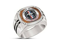 Luxury 925 Silver Sports Car Mustang Jewelry Men Engagement Wedding Ring Size 13