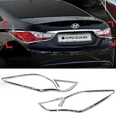 Chrome Normal Interior Molding Kit C362 8pcs For Hyundai Sonata i45 2011 2014