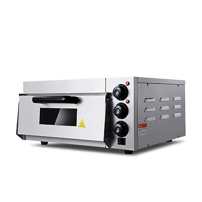 220v Commercial Use Electric Pizza Oven With Timer For Making Bread Cake Pizza