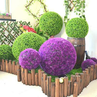 Topiary Ball Lavender Artificial Garden Flower Plant Decoration Basket Decor AL