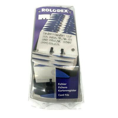Vintage Rolodex Card File Tray Black 500 2.25x4 Blank Cards A-z 1999 66998