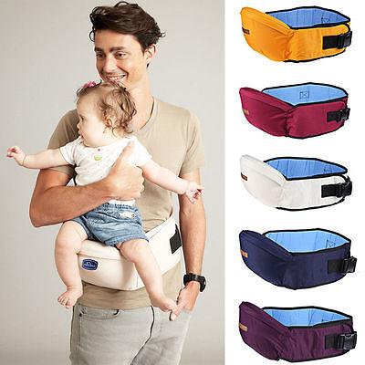 Kids Carrier Hipseat Walkers Baby Sling Backpack Belt Waist Hold Infant Hip Seat