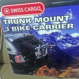NEW! SWISS CARGO SC-T103 3 BIKE CARRIER. FITS MOST VEHICLES!