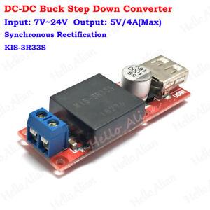 Mini DC-DC Buck Step Down Converter Volt Regulator 7V-24V to 5V 3A USB KIS3R33S