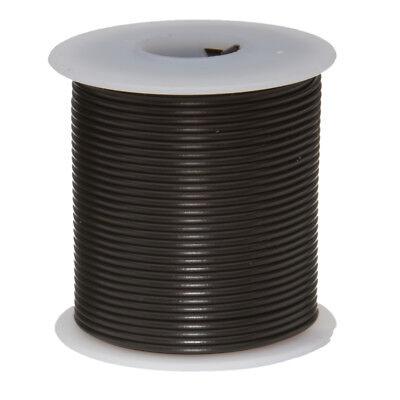 24 Awg Gauge Stranded Hook Up Wire Black 100 Ft 0.0201 Ptfe 600 Volts