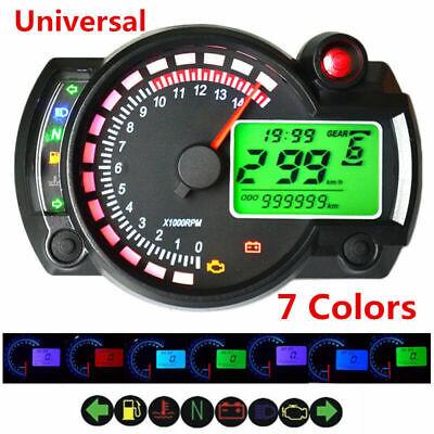 Universal Adjustable Motorcycle 7 colors Electronic Digital Speedometer Odometer