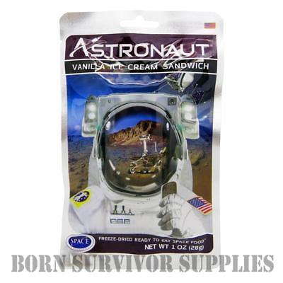 ASTRONAUT FREEZE-DRIED SPACE ICE CREAM - VANILLA SANDWICH Food Ration Pack Gift ()