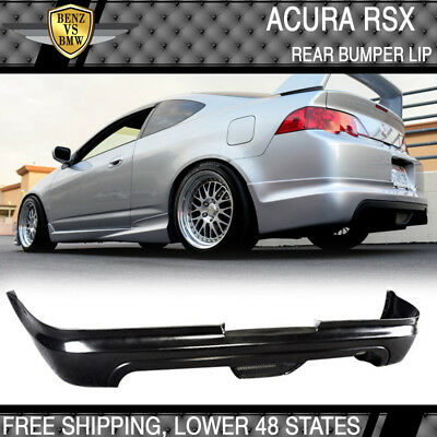 Fits 02-04 Acura RSX Mugen Style PU Rear Bumper Lip Spoiler Bodykit Acura Rsx Dc5 Types