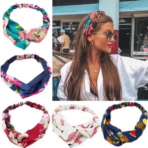 Women Fashion Sports Twist Knot Headband Elastic Head Wrap Turban Yoga Hair Band