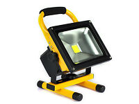 New 20W Portable Rechargeable LED Work Light Cool White Floodlight Torch Waterproof Yellow Outlook