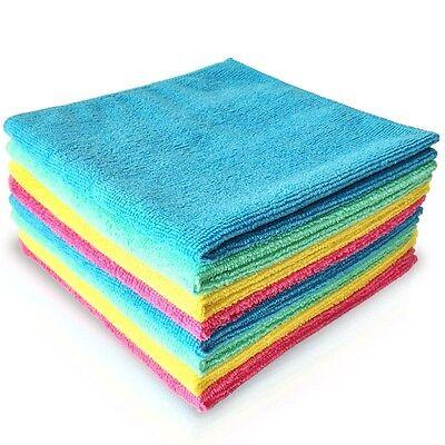 PANNO IN MICROFIBRA MULTIUSO 12 PZ pulizia della casa auto Asciugamani 30x30 cm