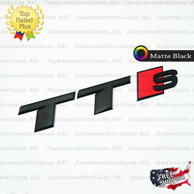 Audi TTS Emblem Matte Black Rear Trunk Lid Letter Badge S Line Logo Nameplate