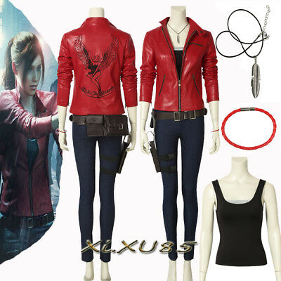 Resident Evil 2 Remake Biohazard Claire Re:2 Cosplay Costume Customize HALLOWEEN - Halloween 2 Remake