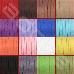 Weiches-Wildlederband-3mm-wildlederimitat-Lederriemen-Lederband-Flach-Basteln
