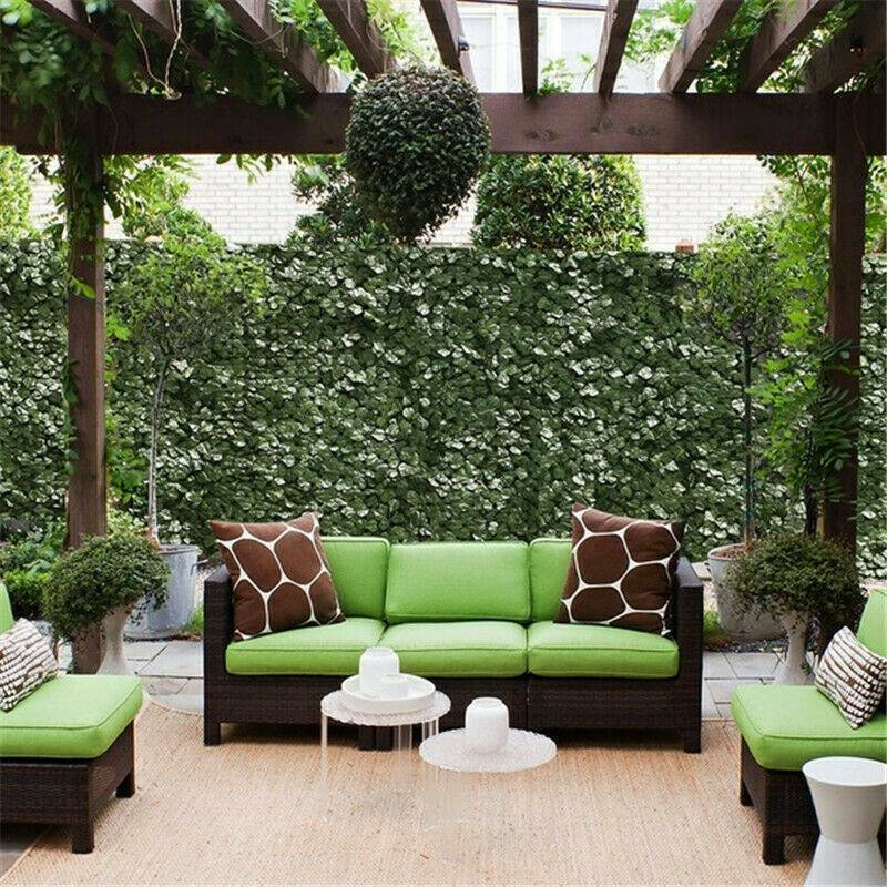 Artificial Faux Ivy Leaf Privacy Fence Screen Party Decors Panels Fencing Hedge Garden Fencing, Privacy Screens & Gates
