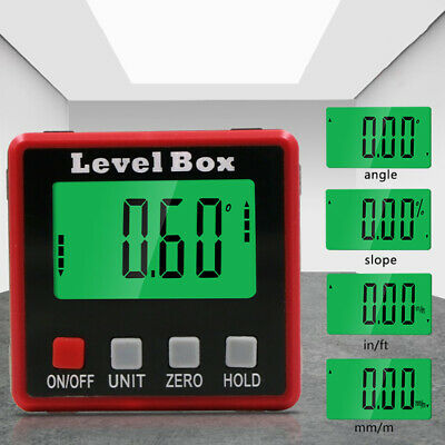 New Digital Inclinometer Magnetic Angle Gauge Electronic Protractor Level Box