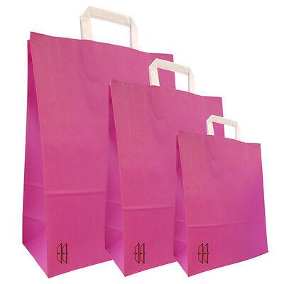 Papiertragetasche Pink mit weißem Griff NEU ()