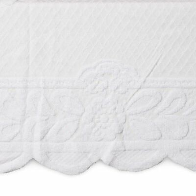 Lace Floral Rectangle Table Cloth Cover for Dining Table, 60 x 98 inches, White
