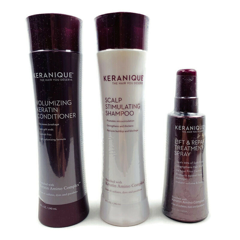 NEW SEALED Keranique Volumizing Conditioner, Scalp Shampoo, Lift Repair - $48.59