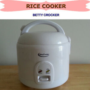 BETTY CROCKER RICE COOKER, STEAMER AND WARMER