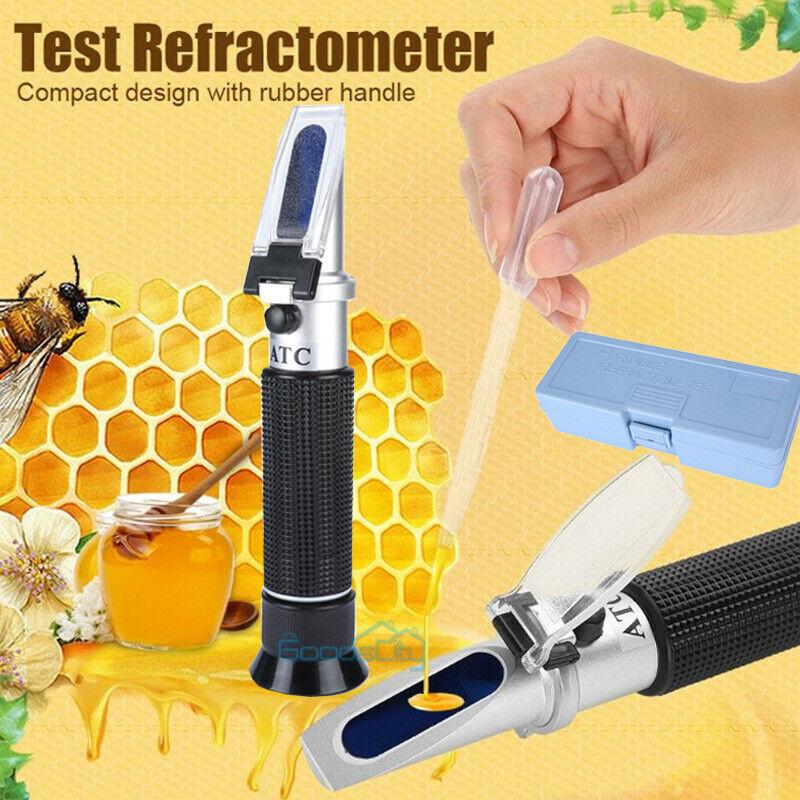 NEW Refractometer Beekeeper Water Sugar Content Test Brix 58-92% Water 0-32%
