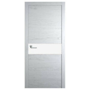 Modern Interior door: enamel on veneer finish with glass insert