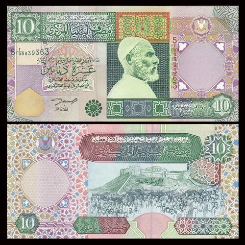 Libya Lybien 10 Dinars, 2002, P-66, UNC, Banknotes, Original