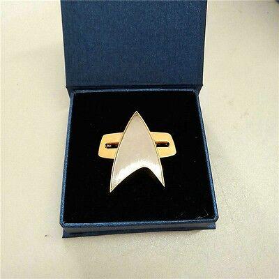 (Star Trek Badge Voyager Communicator Starfleet Badge Handmade Pin Brooch)