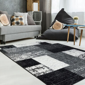 Vintage Black&White Area Rug,Living Room,Bedroom,Kids Room