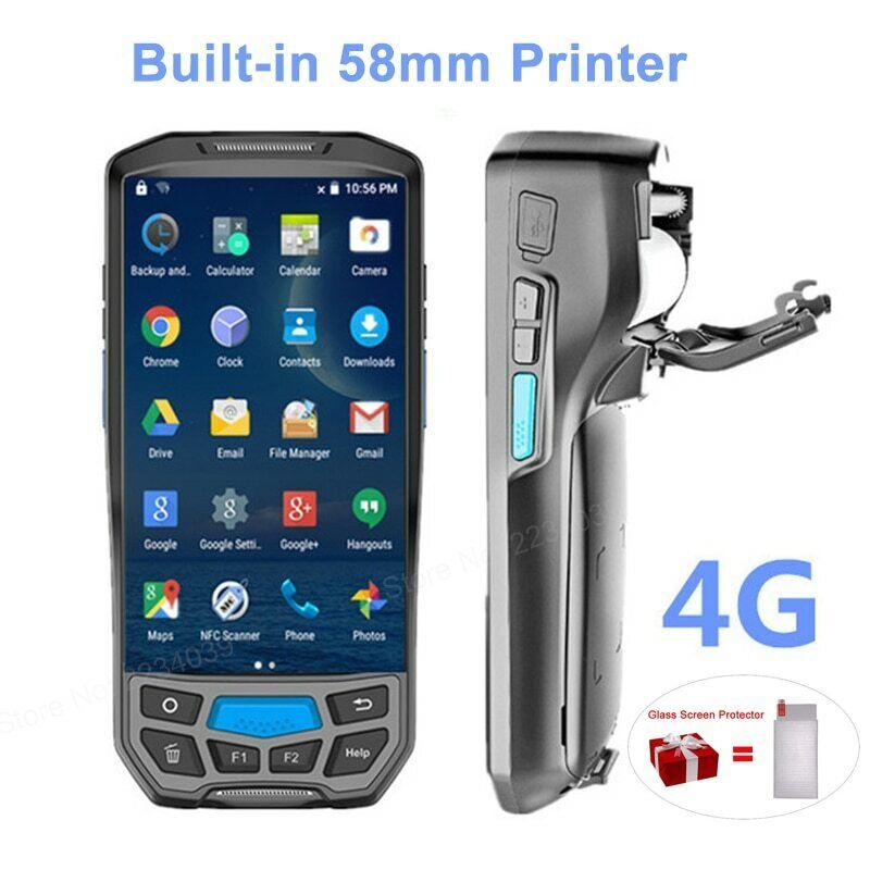 58mm Thermal Printer 4G Handheld POS Terminal Wireless 1D/2D
