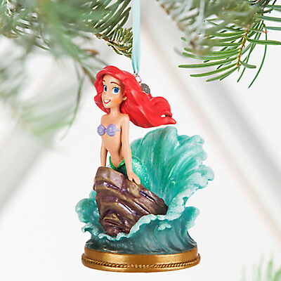 Disney Store 2016 Ariel Singing Sketchbook Christmas Ornament New with Tags