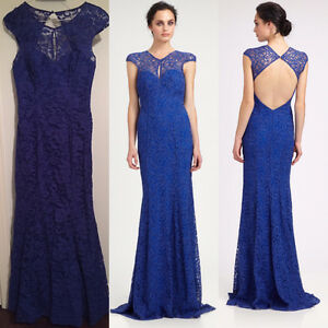 ROBE MONIQUE L'HULLIER LACE DENTELLE TAILLE 6 PROM WEDDING GALA